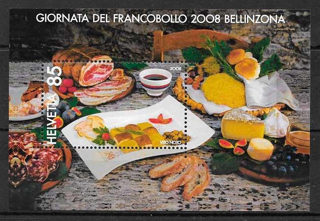 filatelia coleción temas varios Suiza 2008
