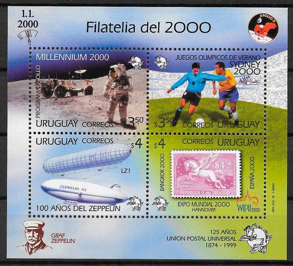 sellos temas varios Uruguay 1999
