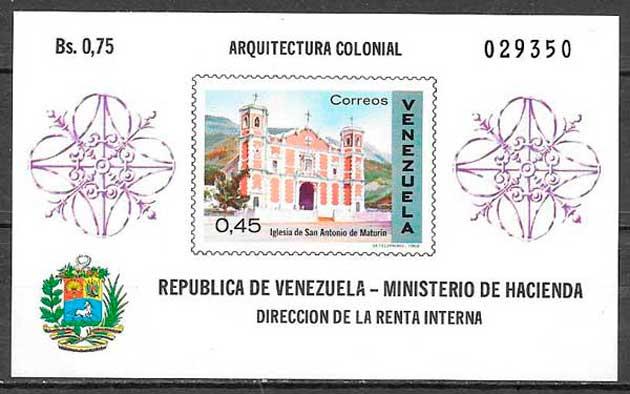 Filatelia arquitectura Venezuela 1969