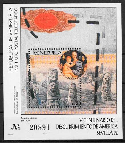 filatelia varios temas Venezuela 1992