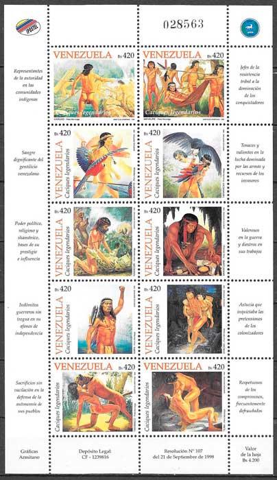 colección sellos turismo Venezuela 1998