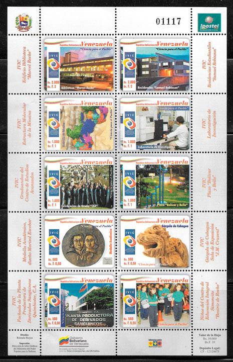 colección selos temas varios Venezuela 2009