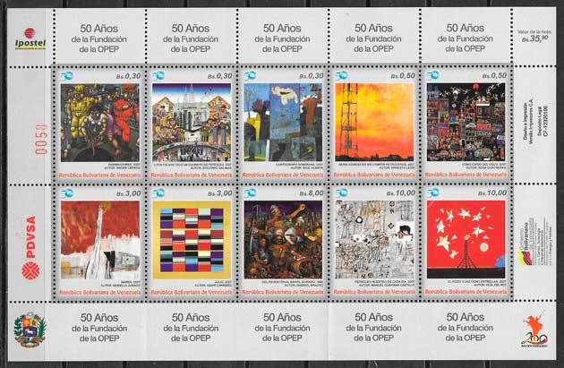 colección sellos arte venezuela 2010