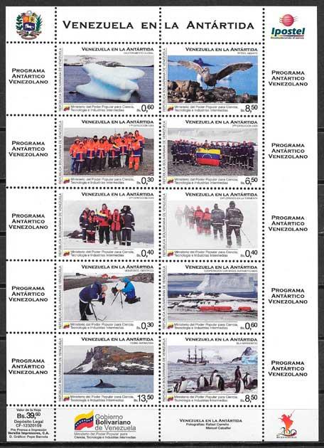 sellos varios temas venezuela 2010