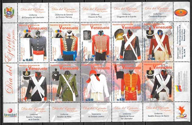 sellos varios temas venezuela 2011