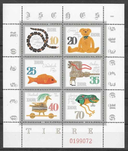 sellos juguetes Alemania DDR 1981