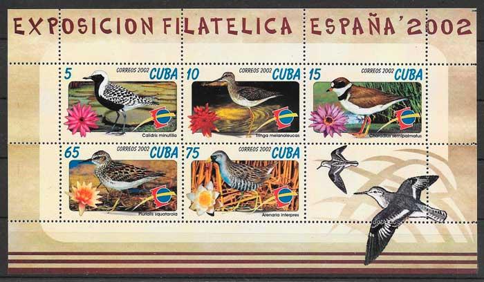 sellos fauna Cuba 2002