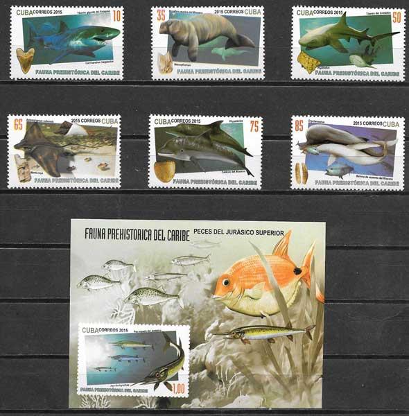 sellos fauna Cuba 2015