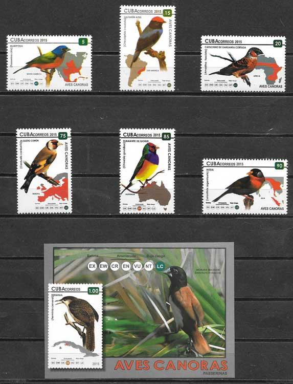 Filatelia fauna Cuba 2015