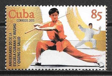 Filatelia deporte Cuba 2015