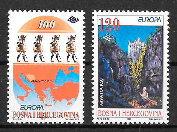 filatelia colección Europa Bosnia Herzegovina 1997