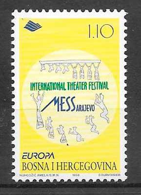 sellos tema Europa Bosnia Hercegovina