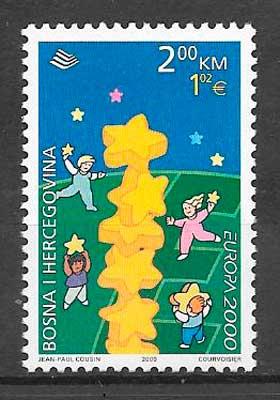 sello tema Europa Bosnia Herzegovina 2000