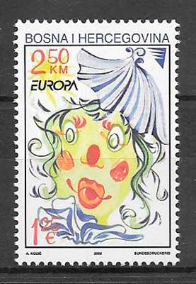 sellos tema Europa Bosnia Herzegovina 2002