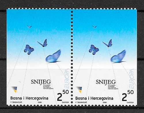 filatelia colección tema Europa Bosnia Herzegovina 2003