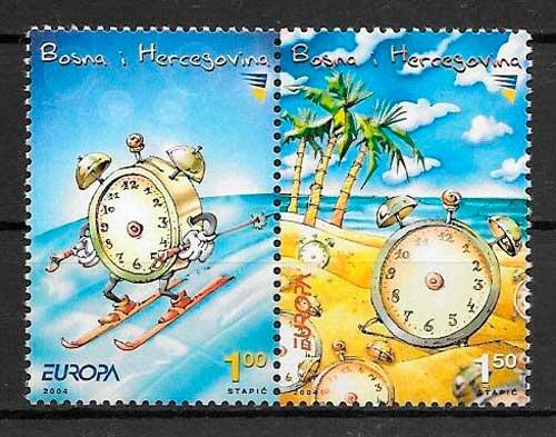 colección sellos tema Europa Bosnia Herzegovina 2004