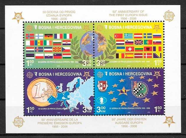 sellos tema Europa Bosnia Herzegovina 2006