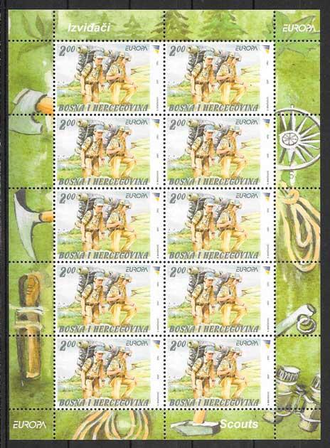filatelia colección tema Europa Bosnia Herzegovina 2007