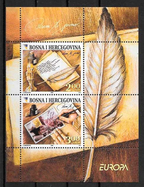 colección sellos tema Europa Bosnia Herzegovina 2008