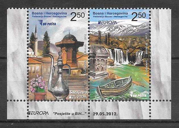 colección sellos tema Europa Bosnia Herzegovina 2012