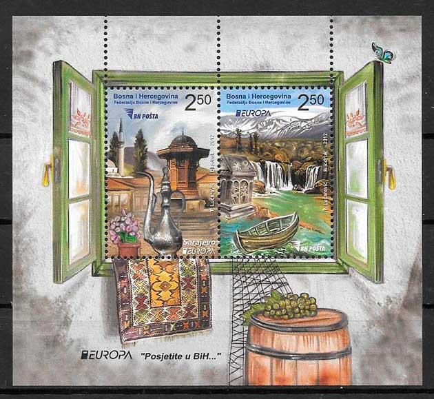 filatelia colección tema Europa Bosnia Herzegovina 2012