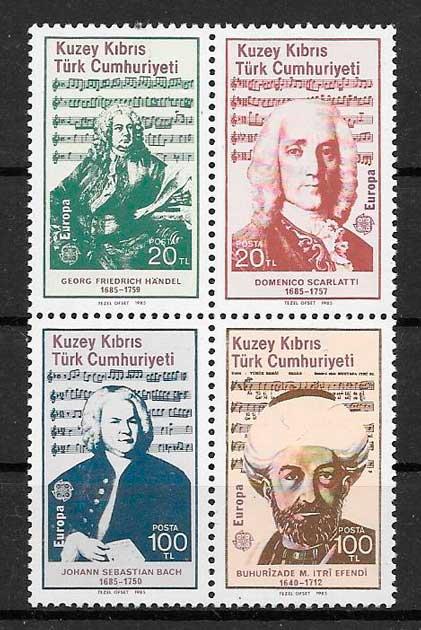 filatelia colección tema Europa Chipre Turco 1985