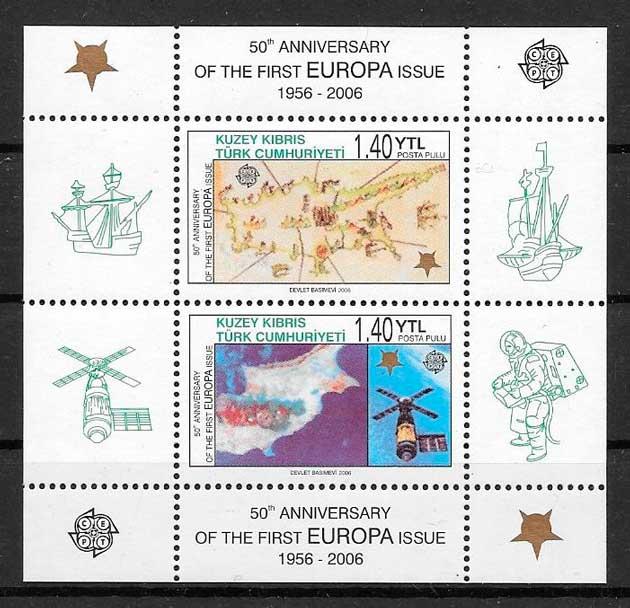 sellos tema Europa Chipre Turco 2006