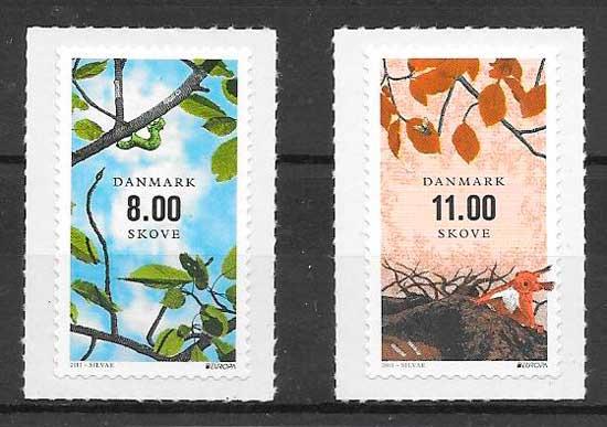 filatelia colección tema Europa Dinamarca 2011