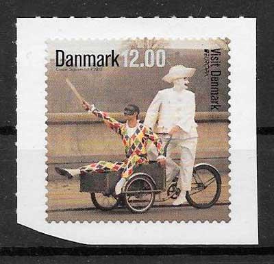 colección sellos tema Europa Dinamarca 2012