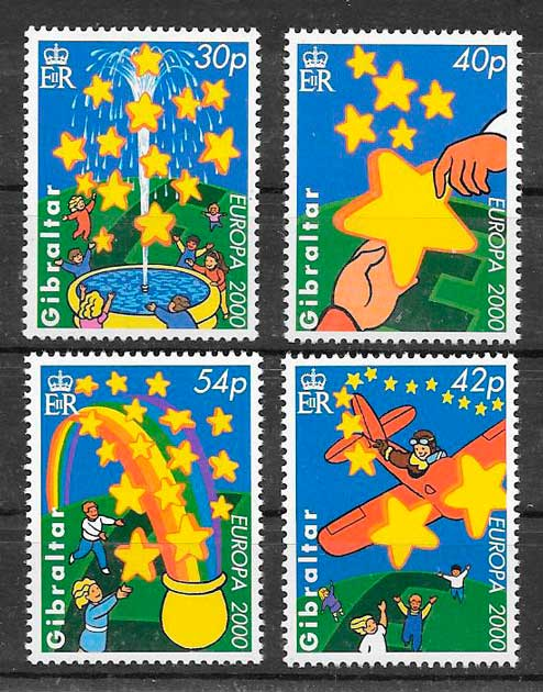 sellos tema Europa Gibraltar 2000