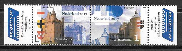 sellos tema Europa Holanda 2017