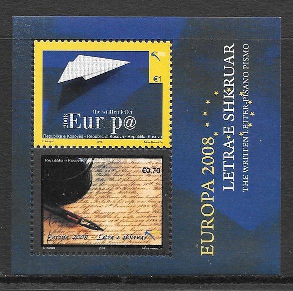 colección sellos tema Europa Kosovo 2008