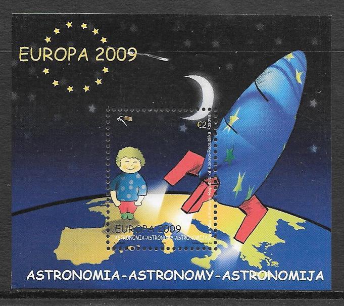 colección sellos Tema Europa Kosovo 2009