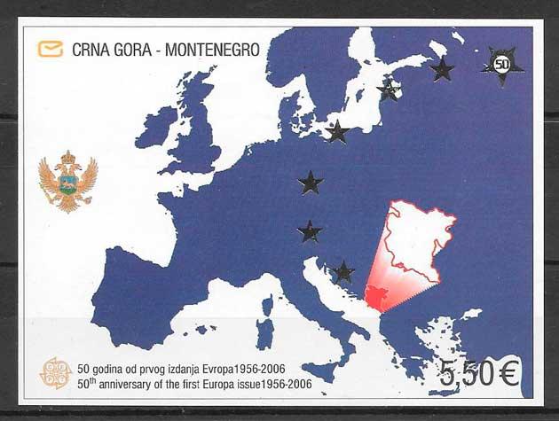 sellos tema Europa Montenegro 2006