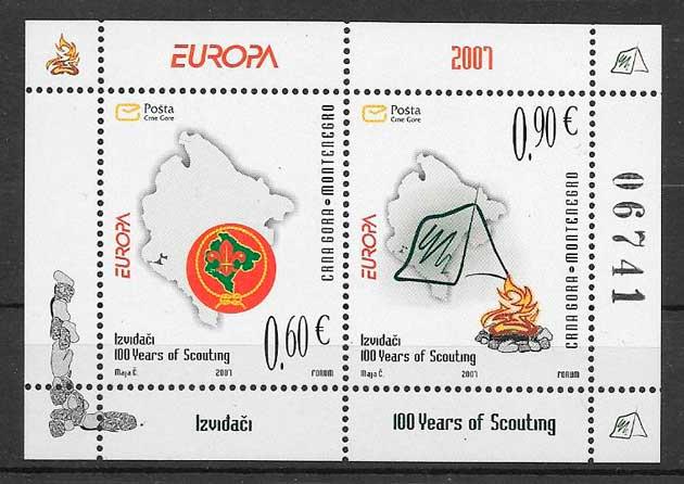 sellos tema europa Montenegro 2007