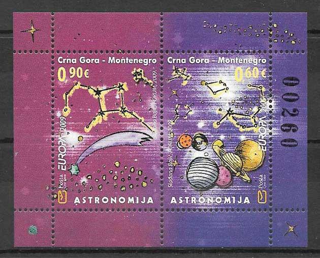 filatelia tema Europa Montenegro 2009