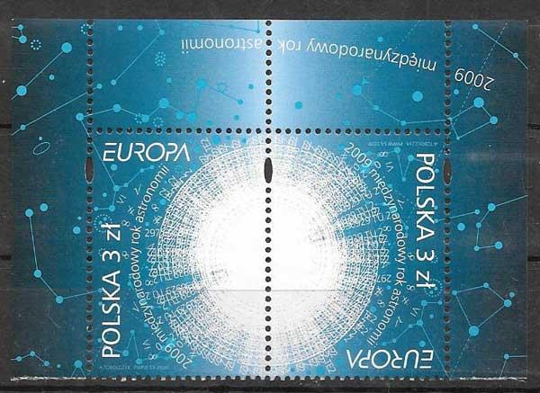 filatelia tema Europa Polonia 2009