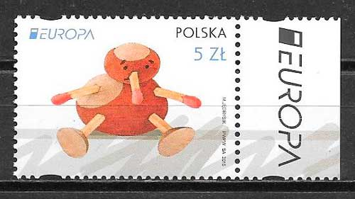 filatelia tema Europa 2015 Polonia