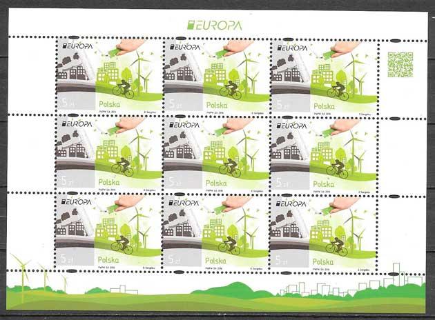sellos Tema Europa Polonia 2016