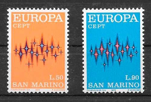 filatelia tema Europa San Marino 1972