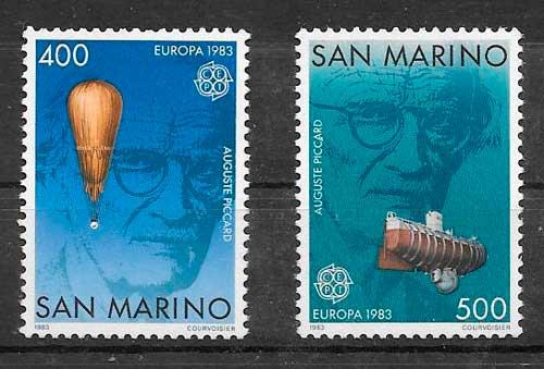 filatelia tema Europa San Marino 1983