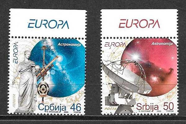 colección sellos tema Europa Serbia 2009