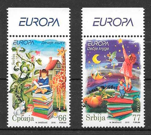 sellos tema Europa Serbia 2010