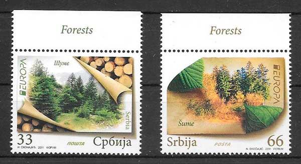 sellos tema Europa Serbia 2011