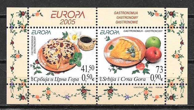 filatelia tema Europa Serbia y Montenegro 2004