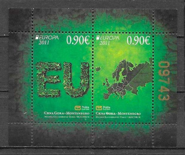 sellos tema Europa Montenegro 2011