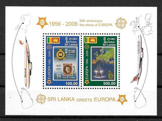 sellos tema Europa Sri Lanka 2006