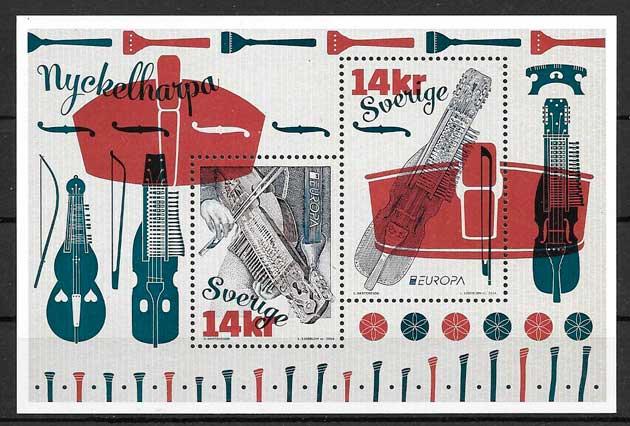 sellos tema Europa Suecia 2014