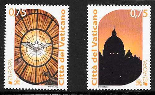 filatelia tema europa Vaticanpo 2012