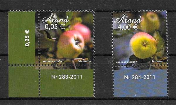 filatelia frutas y verduras Aland 2011
